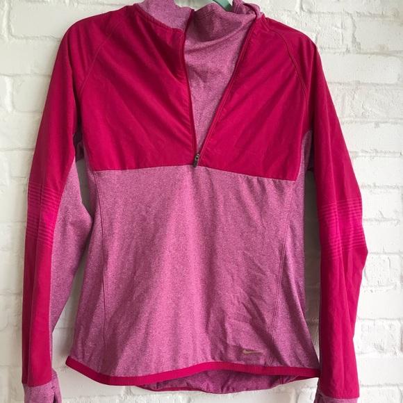 Nike Jackets & Blazers - Nike half zip thermal sweater pink medium
